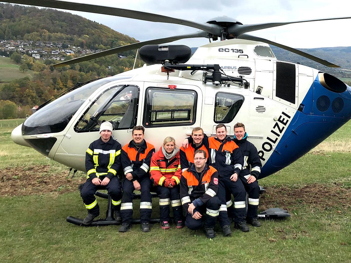 Die Flughelfer der Feuerwehr Bischofsheim i. d. Rhön.