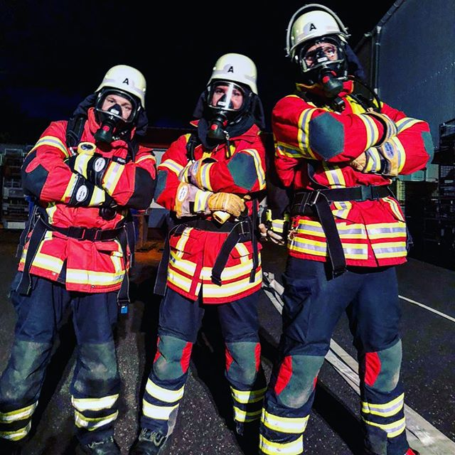 Drei Atemschutz-Geräteträger der Freiwilligen Feuerwehr Bischofsheim i. d. Rhön.